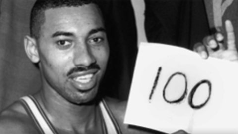 1962: Wilt Chamberlain scores 100 points in one game