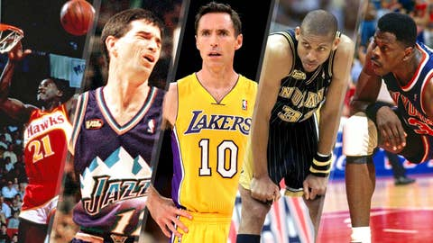 Which of these NBA legends is not like the other?