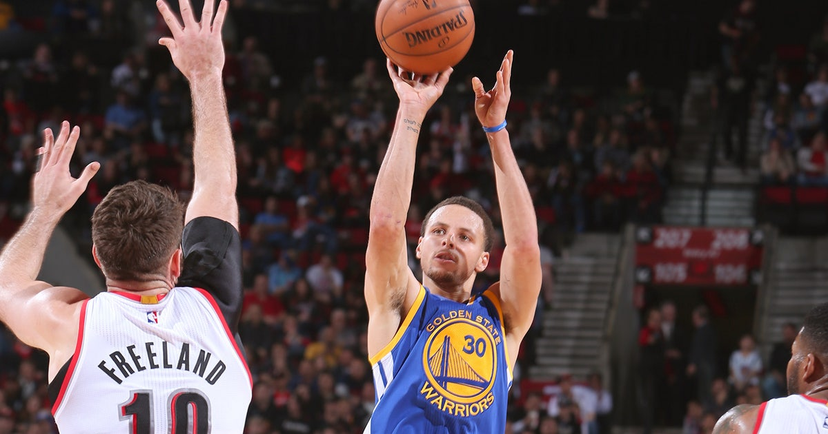 Video Warriors Stephen Curry Torches The Trail Blazers