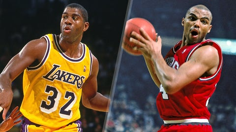 Magic Johnson edges out Charles Barkley, 1989-1990