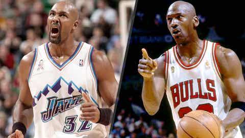 Karl Malone robs Michael Jordan, 1996-1997