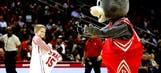 Rockets mascot plays it cool after draining backwards halfcourt shot