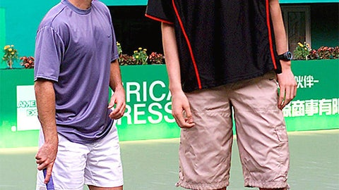Yao Ming vs. Andre Agassi