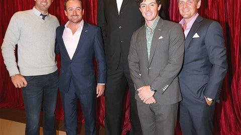 Yao Ming vs. Dustin Johnson, Graeme McDowell, Rory McIlroy and Luke Donald