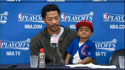 Can anyone match coolness of Derrick Rose's son? Pfft, please