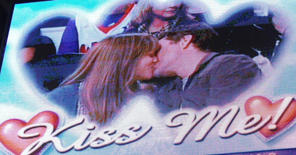 Reds game kissing cam sex