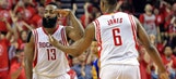 James Harden scores 45 as Rockets top Warriors to avoid sweep