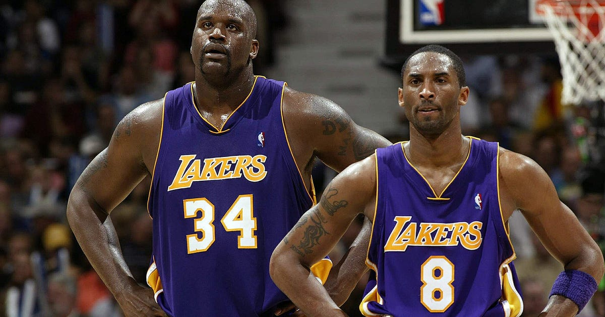 Image result for picture of Shaq and Kobe