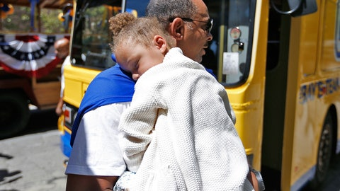 Champions! Scenes from the Golden State Warriors' victory parade in Oakland