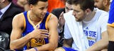 Watch Stephen Curry present David Lee with his championship ring