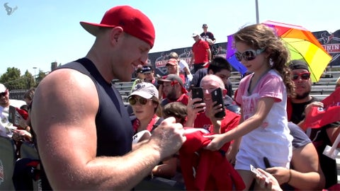 J.J. Watt & the kissing bandit