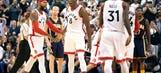 Watch Bismack Biyombo flex on 'em in Raptors season-opening win