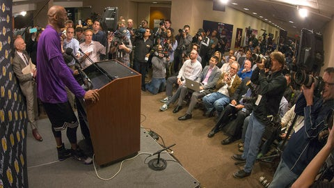 Nov. 29 -- Kobe Bryant prepares to say goodbye