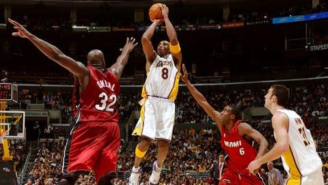 2004: Heat 104, Lakers 102 (OT)