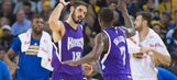 Omri Casspi stared down Steph Curry in a 3-point battle and won