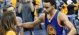 Seth, Stephen Curry's mother Sonya rocks both Warriors and Kings gear
