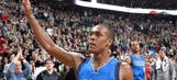 Celtics thank Rondo with emotional tribute in his return as Maverick