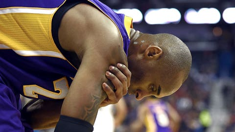January 2015: Injuries keep piling up for Kobe