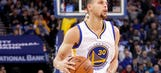 Steph Curry hits half-court shots at buzzer until one counts