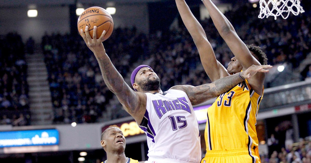 3e8d61680dc8 Cousins scores career-high 48 as Kings beat Pacers