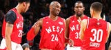 West All-Stars send Kobe off with victory in high-scoring affair