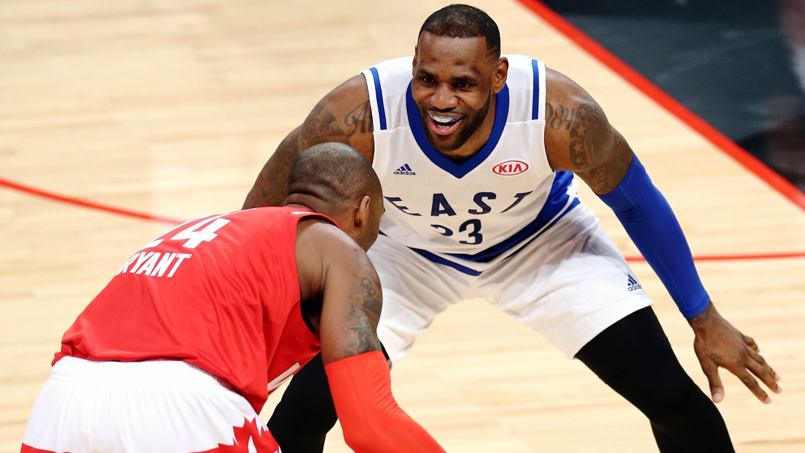 buy online 1673c 2ce1e LeBron plans to frame photo of him and Kobe going one on one ...