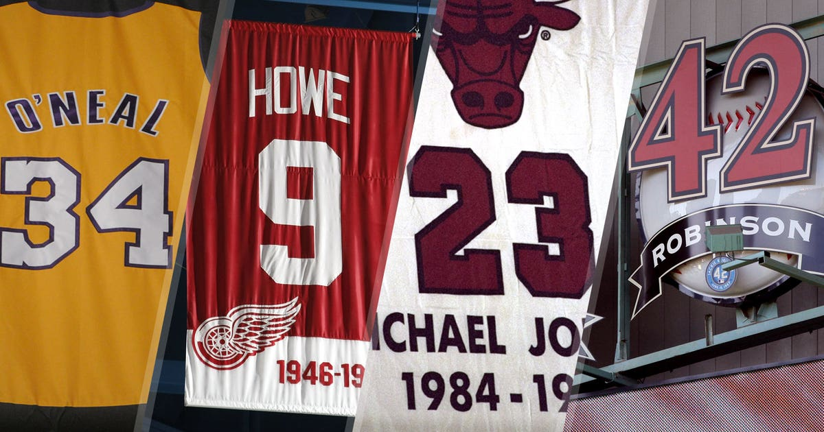 82478ded5bf Shaq and 31 more athletes with numbers retired by multiple teams ...