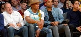 Cam Newton still losing with ridiculous hat at Laker game