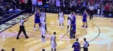 Watch a kid run onto the court during a game to hug Carmelo Anthony