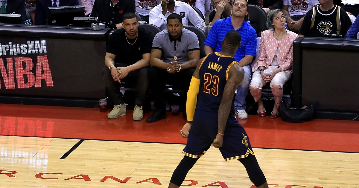 902a994a406 It looks like LeBron James taunted Drake during the Cavs  Game 6 blowout