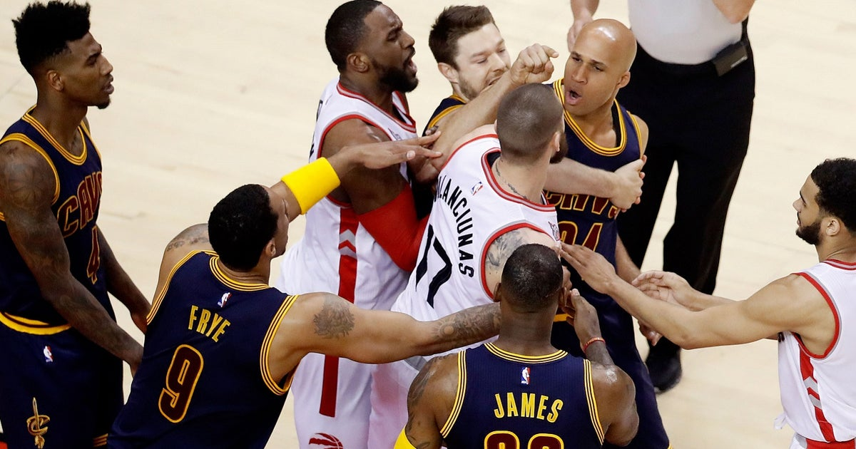 Watch Cavaliers  Richard Jefferson lash out after elbow from Raptors  Jonas  Valanciunas  b92b1da76