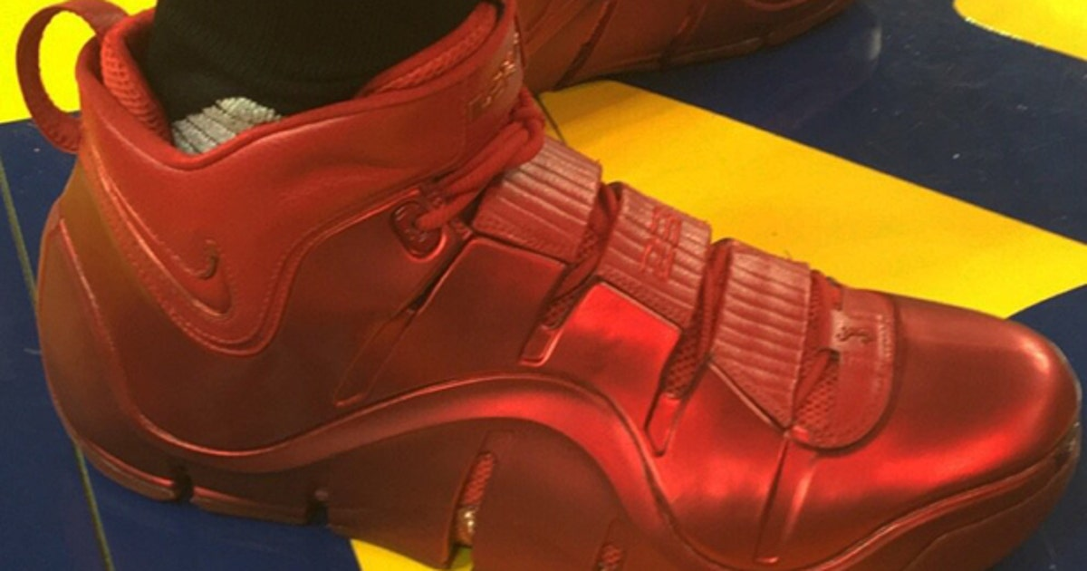 5b61d5bd743 LeBron has been wearing incredibly rare sneakers to practice for the NBA  Finals