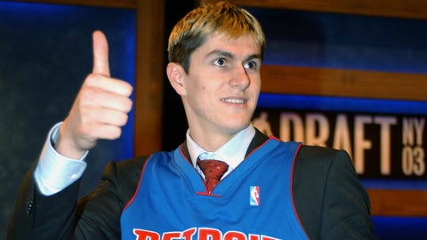 Detroit Pistons: Darko Milicic over Dwyane Wade (2003, Pick No. 2)