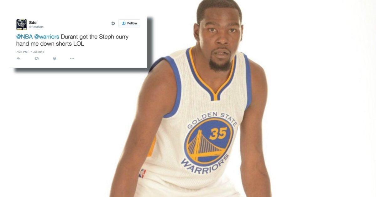 The Internet is roasting Kevin Durant s Warriors uniform photoshoot ... 68b6fb143