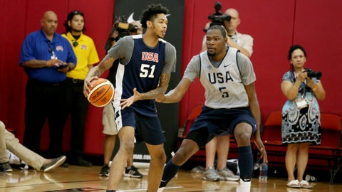 SF: Brandon Ingram (entering his rookie year with the Lakers)