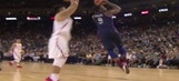 DeMar DeRozan nearly completes one of the best poster dunks of all time