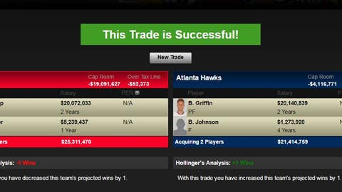 Hawks receive Blake Griffin and Brice Johnson; Clippers receive Paul Millsap, Kyle Korver and Minnesota's 2018 first-round pick