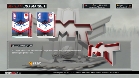 Bigger MyTeam packs, less clutter