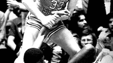 5. Magic Johnson faces Larry Bird in 1979 national title game
