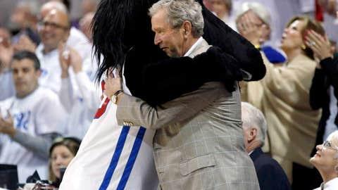 Presidential hug