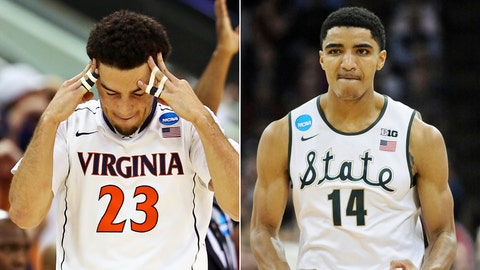 East: No. 1 Virginia vs. No. 4 Michigan State, Friday, 9:57 p.m., TBS
