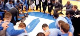 UNC, Duke join together to hold moment of silence for Dean Smith