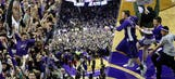 K-State tops Kansas, fans storm court, get physical with Self, players