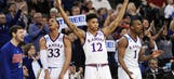 Big 12 gets on track as No. 2 seed Kansas routs New Mexico State