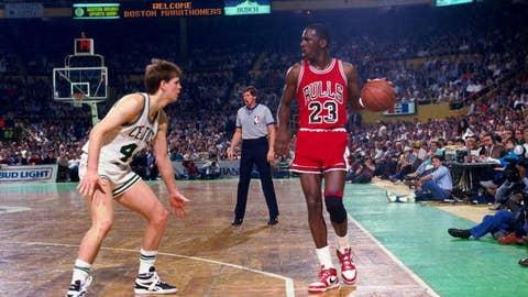 Playoff year No. 1 (Jordan: 1986; James: 2006)