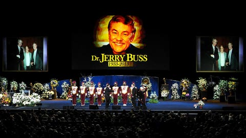February 2013: Dr. Jerry Buss passes away