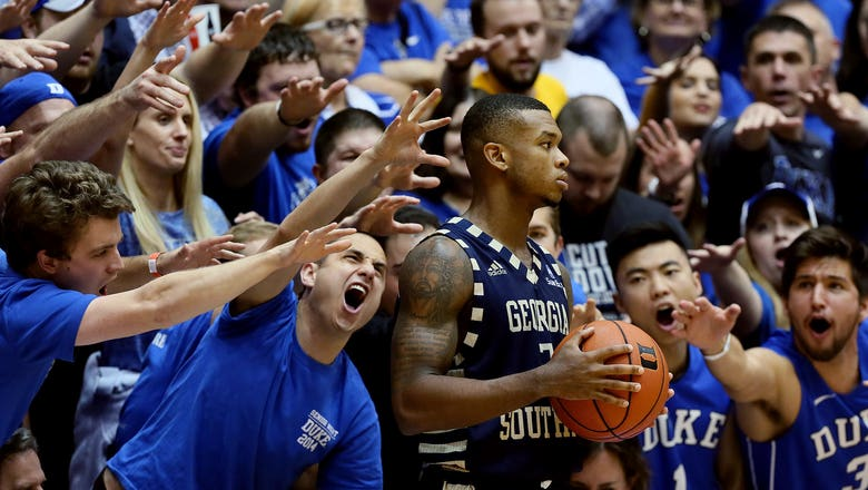 Georgia Southern wins on last-second four-point play