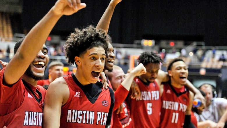 Cinderella Austin Peay first team to clinch NCAA tournament bid
