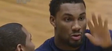 Watch Michigan's Zak Irvin save a man's face from getting destroyed