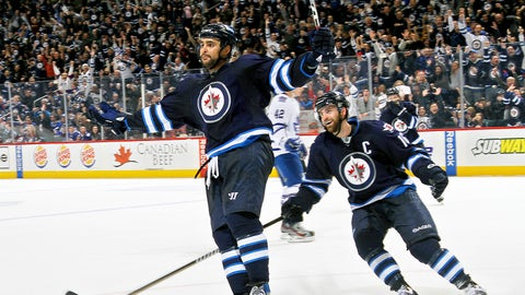 Dustin Byfuglien -- Round 8, 2003; 245th overall by Chicago Blackhawks